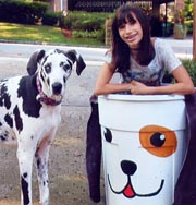 Pet food donation bin